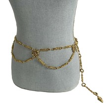 THE LIMITED Vintage Gold Tone Baroque Belly Body Chain Belt One Size to ... - $43.56