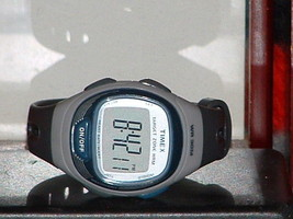Pre-Owned Blue & Grey Timex T5k539 Heart Rate Monitor Digital Watch (Watch Only) - $23.76