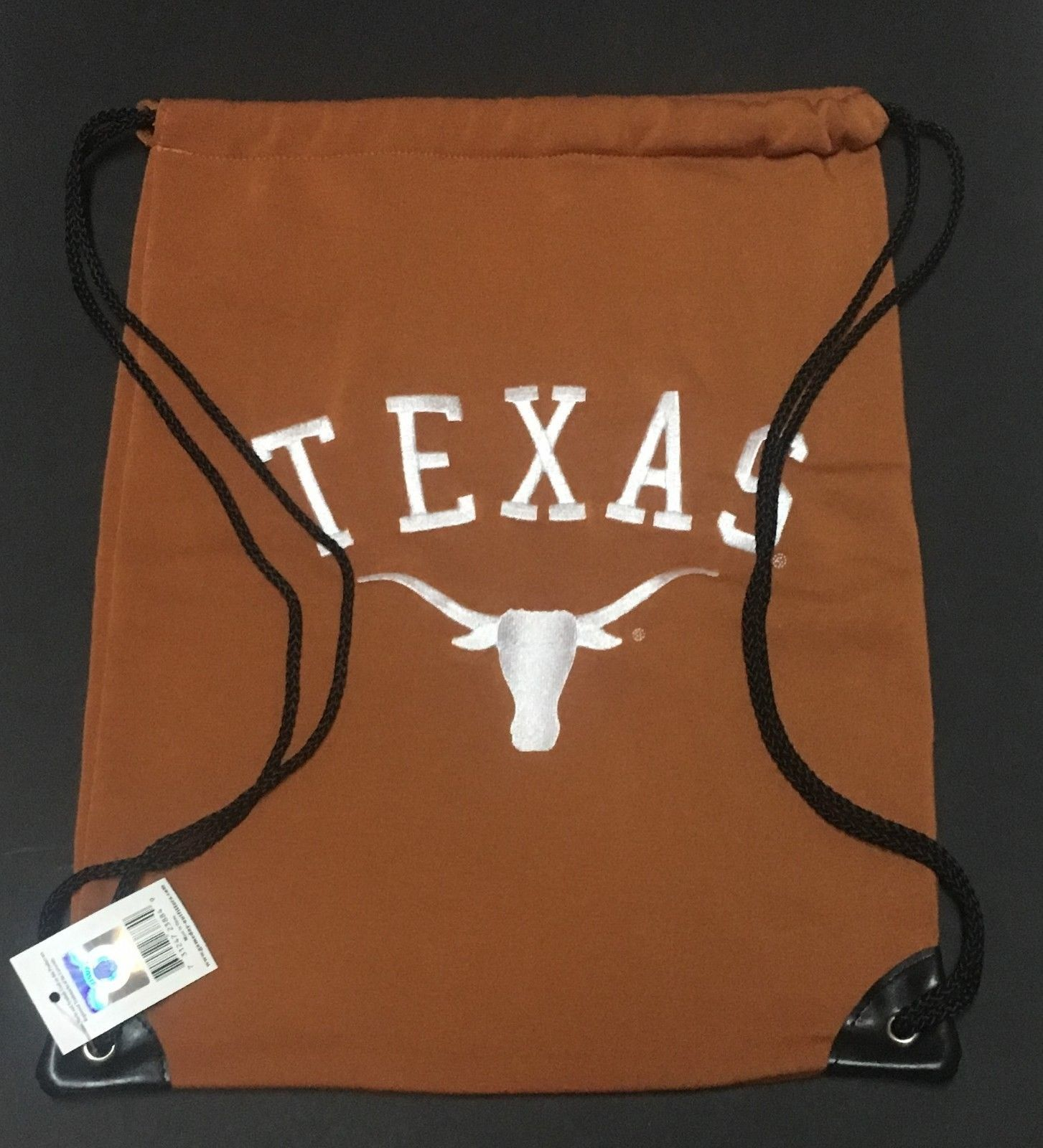 "Texas Longhorns University Draw String Backpack 19"" x 13"" Licensed Collegiate"