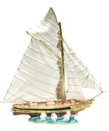 Sailboat (Large) Jeweled Trinket Box with SWAROVSKI Crystals - €45,80 EUR