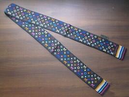 Louis Vuitton Black Silk Twilly Skinny Scarf 100% Silk Handbag Tie  - £138.48 GBP