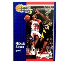 Michael Jordan 1991-92 Fleer League Leader #220 NBA HOF Chicago Bulls - $1.93