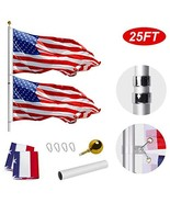 WeValor 25FT Telescoping Flag Pole Kit, Heavy Duty 16 Gauge Aluminum Out... - $102.28
