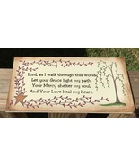 Primitive Wood Sign P109 Lord, As I walk through this world - $2.95