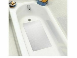 NEW Room Essentials White Rubber Skid Resistant Bath Mat for Bathtub 16x... - $8.90