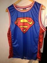 DC Comics Blue Superman Logo Licensed Graphic Jersey Tank Top Sleeveless Size XL - $20.90