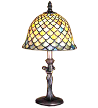 "15""H Tiffany Fishscale Mini Table Lamp - 30315 - £127.49 GBP"