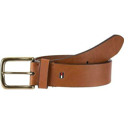 Tommy Hilfiger Men's Leather Casual Belt Brown 11Tl02X025 Size 36 New W/O Tags