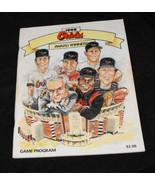 1990 baltimore orioles MLB game program with yankees scorecard insert - $13.99