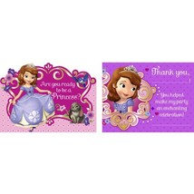 Disney Junior Sofia the First Invitations & Thank-You Postcards (8 each) - $6.06