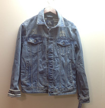 $120 American Rag Mens Denim Jacket, Boro Wash, Size L - $49.49