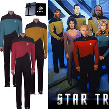 Star Trek Cosplay Costume The Next Generation Jumpsuit Uniform in Red Go... - £35.13 GBP+