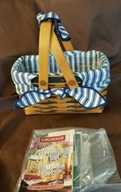 Longaberger 1998 Picture Perfect Sweetheart Basket BLUE #16250 Liner Pro... - $29.95