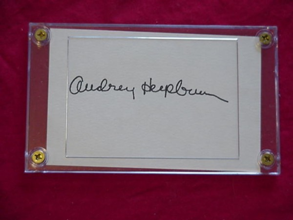 Primary image for AUDREY HEPBURN  Autographed Signed Signature Cut w/COA - 30645