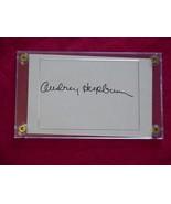 AUDREY HEPBURN  Autographed Signed Signature Cut w/COA - 30645 - $125.00