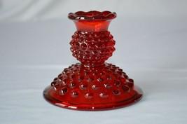 Fenton Hobnail Ruby Red Candle Holder #3974 RU - $9.90