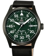 Orient 21-Jewel Automatic Aviator Flight Watch with Black Leather Strap ER2A002F - $204.67