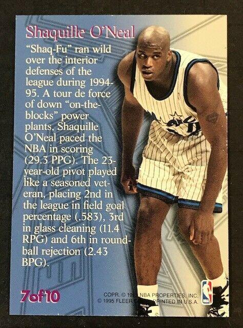 1995-96 Fleer Metal Steel Tower #7 Shaquille O'Neal Orlando Magic Card