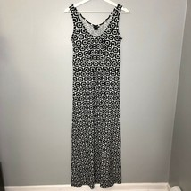 Ann Taylor Black White Maxi Dress Sz XS Sleeveless Jersey Knit Stretch W... - $41.09