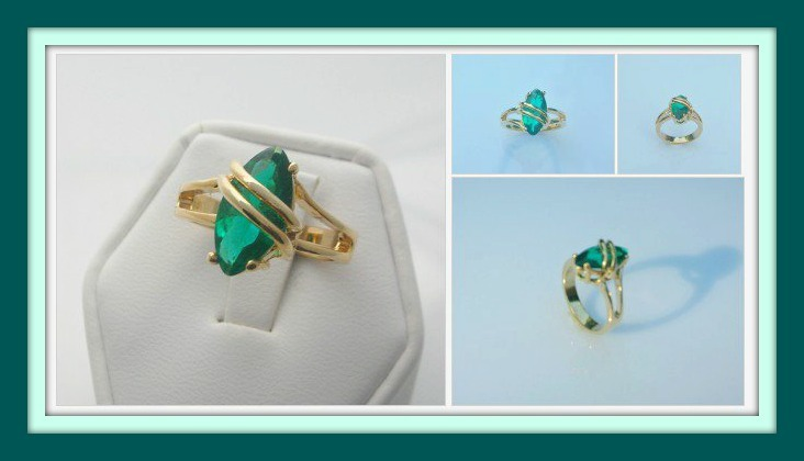 Tropical teal ring pm
