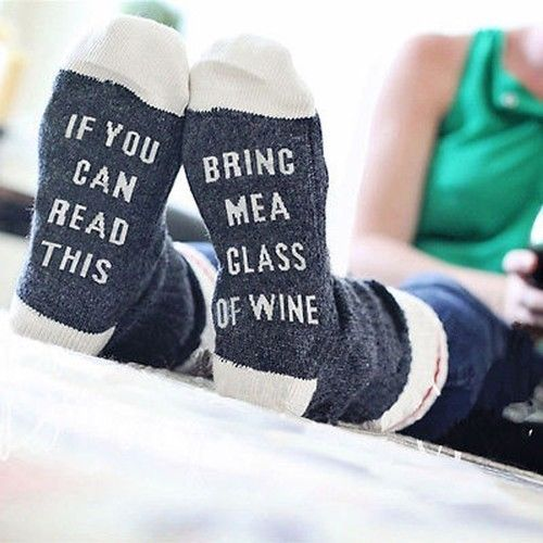 Used, Socks Autumn  Custom Wine Socks If You Can Read This Bring Me a Glass of Wine for sale  USA