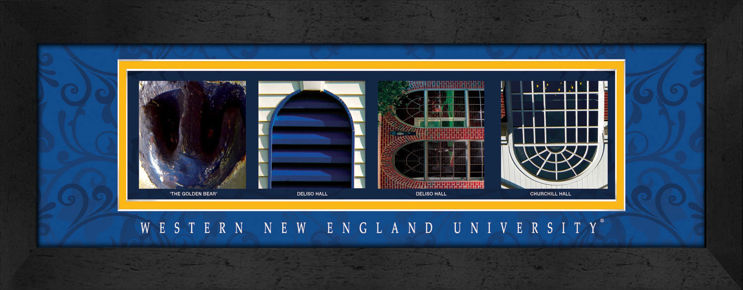 Primary image for Western New England University Officially Licensed Framed Campus Letter Art