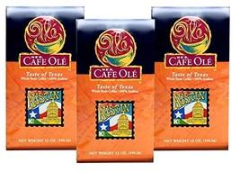 HEB Cafe Ole Taste of Texas Whole Bean Coffee 12oz Bag (Pack of 3) (Taste of Aus - $44.52