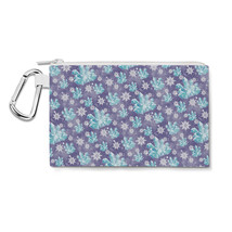 Frozen Snowflakes and Crystals Canvas Zip Pouch - $14.99+
