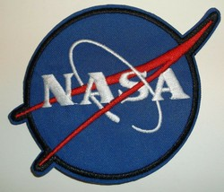 NASA Logo Patch~Embroidered~Insignia~Emblem~Meatball~3 7/8 x 3 1/4~FREE ... - $4.45