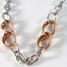 Bracelet White Gold Pink 18K 750, Circles, Ovals Wavy, Infinity, Italy Made image 2