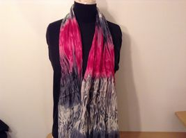 New fashion scarf shibori water color style in choice of color scheme image 3