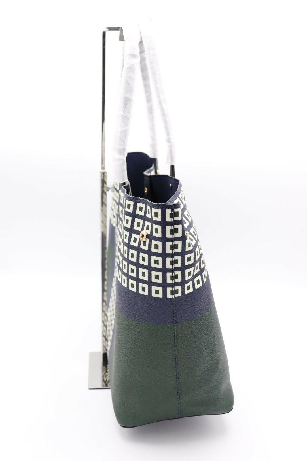NWT Tory Burch Kerrington Square Tote Green Milano Shoulder Bag New  $298 image 3