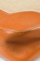 """VINTAGE Hermes Beige Tan Box Calf Leather Canvas """"Trim I"""" Shoulder Bag image 5"""