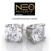 3.00 Carat NEO Moissanite Stud Earrings in 14K Gold (with NEO warranty c... - $1,599.00