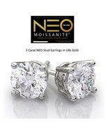 3.00 Carat NEO Moissanite Stud Earrings in 14K Gold (with NEO warranty c... - $1,599.00