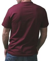 IN King Uomo Burgundy Records Musica a Mio Cuore Regolare T-Shirt USA Fatto Nwt image 3
