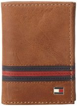 Tommy Hilfiger Men's Leather Trifold Wallet,Yale Tan