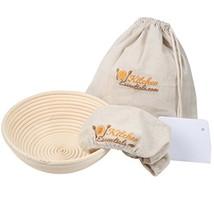 4-In-1 Set of Banneton Bread Proofing Basket 8.5 Inch + Liner + Scraper ... - $23.76
