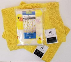 Rubber Duck Shower Curtain Plus Two Bath Rugs - $34.60