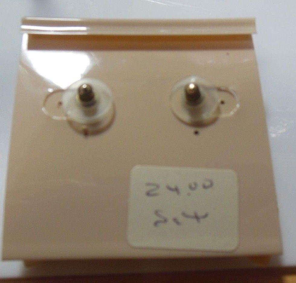 Longcraft Shell Leaf Pierced Earrings