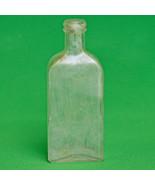 Unusual Vintage Screw-Top Rectangular Bottle With Finger Indentations - $1.25