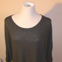 Cherish Long Sleeve Grey Super Soft Long Shirt or Tunic Size M th - $12.99