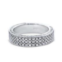 Certified 1.40Ct Round White Diamonds Wedding Anniversary Ring in 14K Wh... - $249.14