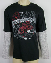 NWT Walt Disney World Store Grumpy shirt long sleeve thermal Black Mens Size L - $18.76