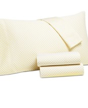 New Charter Club Damask Designs Butter Dot Printed Full 4-pc Sheet Set 5... - $78.35
