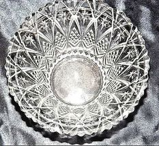 Cut Glass Candy Dish with Detailed Design AA18-11802 Vintage Heavy image 5