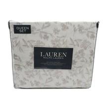 Lauren Ralph Lauren Queen Sheet Set 4 Pc Floral Whimsical Gray White Flo... - $104.95