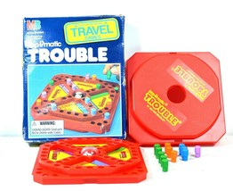 Vintage Pop-O-Matic Trouble Travel Game Milton Bradley 1989 - $9.99