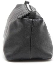 CHANEL Black Leather Bag Travel Case Pouch Makeup Top Zipper - $213.75