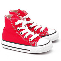 Converse All Star Chuck HI 7J232 Canvas Red Kids Baby Toddler Shoes - $28.95